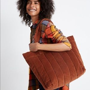 Madewell Transport Tote: Quilted Corduroy Edition